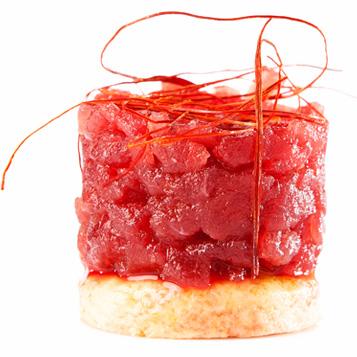Tartar de atún rojo en zahara